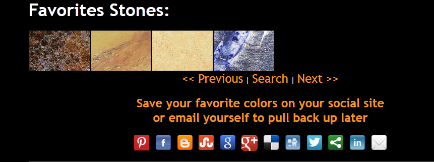 Granite Colors Favorites